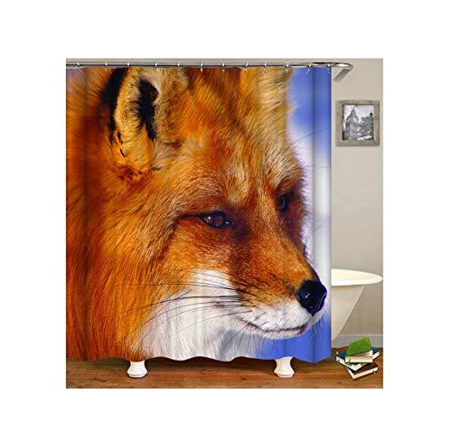 Aeici Duschvorhang 150X180 cm Hund Polyester Bad Vorhang Antischimmel Braun Duschvorhang für Badezimmer
