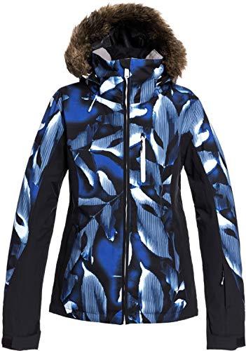 DC Shoes Jet Ski Premium-Giacca da Snowboard da Donna, Mazarine Blue Striped Leaves, XS