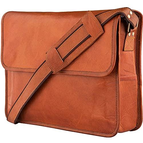 Urban Leather Mens Shoulder Laptop Messenger Bags, Office Laptop Bag, Multi-Pocket,...