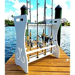 StoreYourBoard Support de rangement pour canne à pêche, peut contenir 24 cannes à pêche et moulinets, résistant aux intempéries, support de rangement intérieur et extérieur