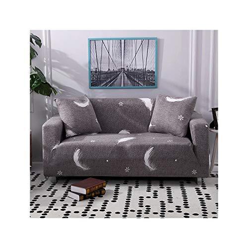 HGblossom Blumendruck Stretch Elastische Sofabezug Baumwolle Sofa Handtuch rutschfeste Sofabezüge Für Wohnzimmer Voll Eingewickelt Anti Staub Colour8 1-Sitzer 90-140Cm