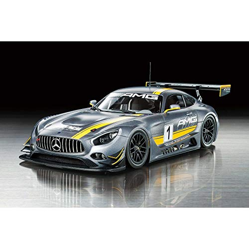Tamiya 300024345 1:24 Mercedes AMG GT3 #1 Juguete de plástico para Coche de Carreras de Alta precisión Kit de construcción Pintar 24345