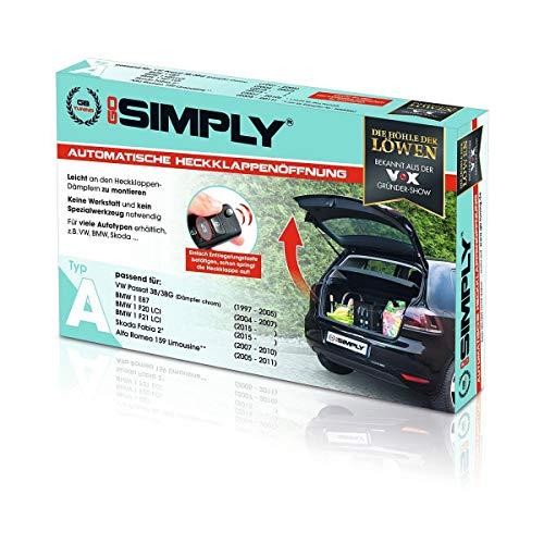 Go Simply Gasfeder Heckklappe | Automatische Heckklappe | Gasdämpfer Feder Kofferraum | Gasdruckfeder | Bekannt aus