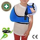 Cabestrillo Para Brazo Suportes de Brazos SÚPER CONFORTABLE. Profunda bolsillo cabestrillo para el brazo. El brazo se une a la cintura, cuello acolchado suave, fácil ajuste. Unisexo. (AZUL, 3-5años)