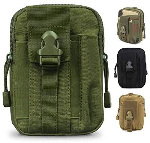 SMART Front® Taktische Hüfttasche, multifunktionale Tasche für Gürtel und Rucksäcke aus Nylon mit Karabiner, Kompakt Molle Tasche Reißverschluss EDC Outdoor Aufbewahrung: Smartphone, Schlüssel, etc.