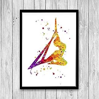 Les Connie Aerial Silk Dancing Girl Watercolor Art Print Aerial Dancer Birthday Gift Aerial Silk Dancing Wall Decor Circus Acrobat Poster