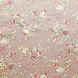 Stoff mit Blumenmuster, Baumwoll-Popeline, Vintage-Stil,