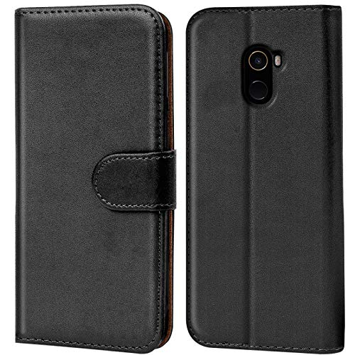 Verco Funda para Xiaomi Mi Mix 2, Telefono Movil Case Compatible con Xiaomi Mi Mix 2 Libro Protectora Carcasa, Negro