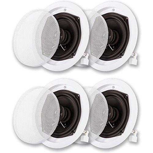 Acoustic Audio R191 in Ceiling/in Wall Speaker 2 Pair Pack 2 Way Home Theater 800 Watt R191-2PR