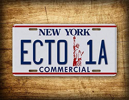 Fhdang Decor Ghostbusters 2 Film-Kennzeichen ECTO 1A Commercial New York Vintage Auto Tag Replica Rep Metallschild