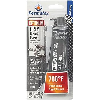 Permatex 27036 Optimum Grey Gasket Maker 3.35 oz, 1 Pack