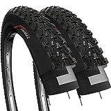 Fincci Paire 26 x 2,35 Pouces 57-559 Pliable Pneus pour VTT Montagne Fuoristrada Vélo Bicyclette (Un Paquet...