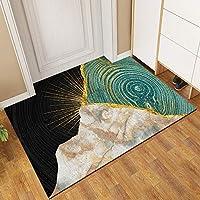 ヨーロピアンスタイルの屋内と屋外の玄関マット、大理石の質感のPVCワイヤーサークルダートトラップ、玄関先の廊下の入り口キッチンバスルームヘビーカーペット