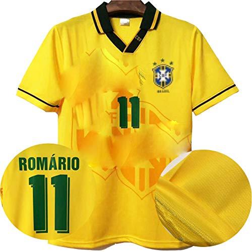 MFFZHJ Jersey de fútbol Retro 1994 Adecuado para Brasil Home BeBeto Romario Jersey de fútbol, número Personalizado y Nombre, Camiseta de la Ropa Deportiva de fútbol Romario-XXL