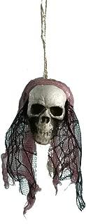 Fan-Ling 2019 New Halloween Hanging Decor,Pirates Corpse Skull Haunted House Bar Home Garden Decor,Foam Wacky Funny Novelty Skull Toys,Halloween Props,Halloween Fake Skull (A)