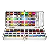 50/90 colores Set de acuarela Aquarelle Cepillo de agua Gouache Pintura al óleo Color del agua Pintura de pigmento sólido Suministros de arte Papelería, 90 colores