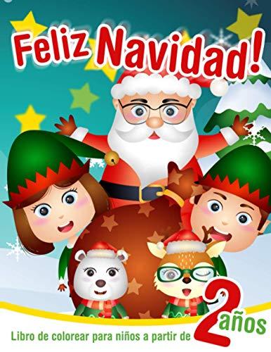 Feliz Navidad! - Libro de colorear para niños a partir de 2...