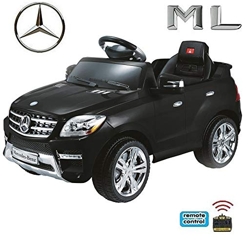 crooza Original Mercedes-Benz ML 4x4 4MATIC 350 SUV Lizenz Kinderauto Kinderfahrzeug (Schwarz)