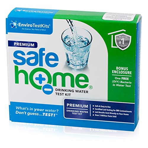Safe Home PREMIUM Water Quality Test Kit – Testing for 50 Different Parameters – Comprehensive Analysis of City Water or Well Water