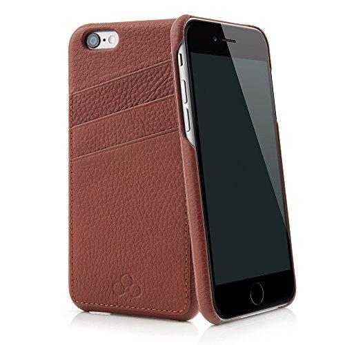 QUADOCTA Custodia iPhone 6 /6s No. 3 in Pregiata Vacchetta per Apple iPhone 6/6s, Colore Tabacco - Custodia per iPhone in 100% Vacchetta - Case per iPhone 6/6s con 3 Scomparti per Carte di Credito