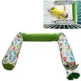 Kinderbettschutz'Cars' - Kopfschutz fürs Babybett - Schutzkissen für Babys – 100% Baumwollbezug - Füllung mit antiallergischer Buchweizenschale - 180 cm - 1,8 kg - abwaschbarer...