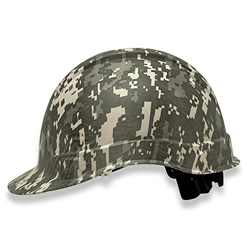 Cap Style Customized Ridgeline ABS Hard Hat, Custom Digital Jungle Camo Design Safety Helmet, with 4 Point Suspension, by Acerpal