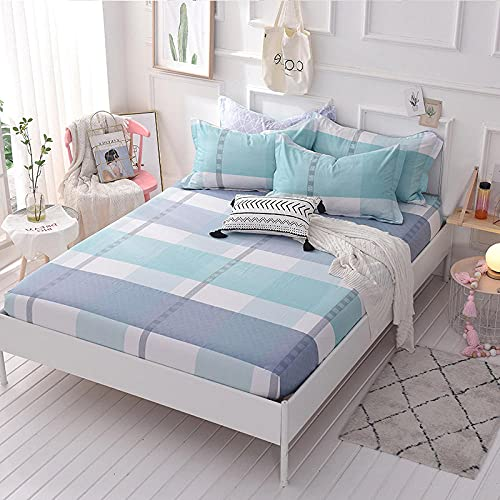 FJMLAY Sábana Bajera clásica,Sábanas de algodón para Cama, Almohadillas Protectoras para Dormitorio Apartments-B_120cmx200cm