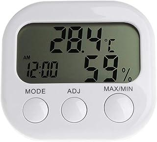 Haia7K4k Digital LCD Thermomètre humidité Mètre hygromètre Max min Température de l'air Horloge