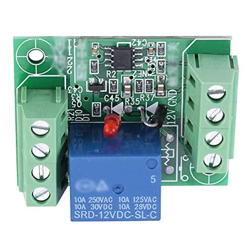 Módulo de retransmisión de un solo canal DC 12V Circuito de biestable Interruptor de activación Control de control de la placa de control Bistable Circuito Relé para condiciones de interfaz in