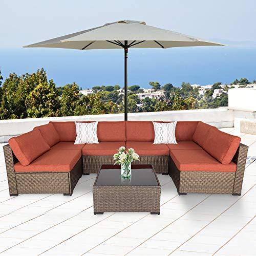 7-Piece Outdoor Patio Furniture ...