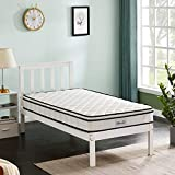 Mattress, Hbaid 8 Inch Memory Foam and Innerspring Hybrid Medium-Firm Feel Hybrid Mattress, Pocket Spring Mattress, Pressure Relieving Comfort Body Support, Bed-in-a-Box (Twin)