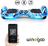 Windgoo Hoverboard 6.5' Balance Board Patinete Eléctrico Scooter Talla LED, Scooter eléctrico Self-Balance (Black-Bluetooth)
