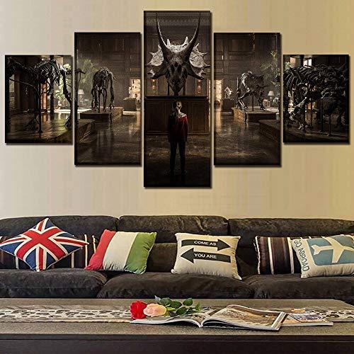 Impresión de lienzo de alta calidad póster de película 5 Panel Mundo reino caído pintura moderna pared arte hogar decorativo dormitorio