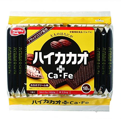 ハイカカオ プラスCa・Fe ウエハース カカオクリーム味 18枚×10個
