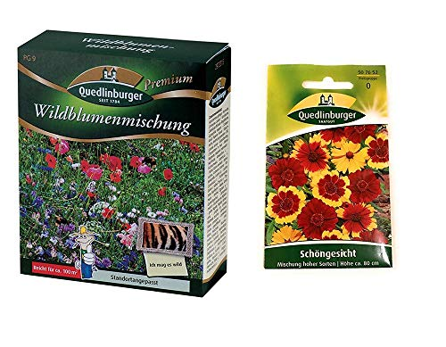 Wildblumenmischung (ohne Gräser) & Schöngesicht | Blumensamen von Quedlinburger Saatgut