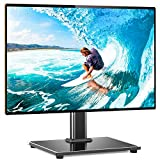 Rfiver Universal Table Top TV Stand TV Base Replacement for Most 27 30 32 39 40 42 43 46 50 55 inch LCD LED Plasma Flat Screen TVs, Vesa Mount Holds up to 88lbs, Height Adjustable and Cable Management