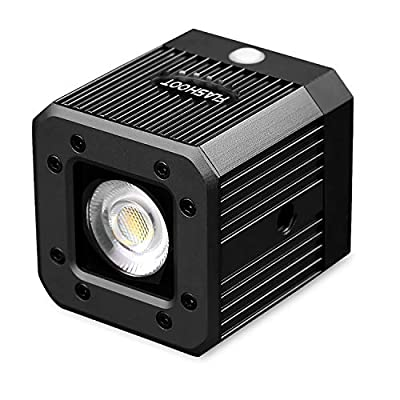 Dazzne Dimmable Bi-Color COB Video Light Waterproof 20M Camping Cycling Lighting for DSLR, Digital Cameras,Camcorder and Action Cameras
