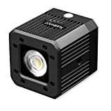Dazzne Mini Cube LED Video Light with 1/4' 20 Screw Hole iPhone LED Light for Smartphone, Drone, DSLR, Camcorder and Action Cameras- Waterproof 20M