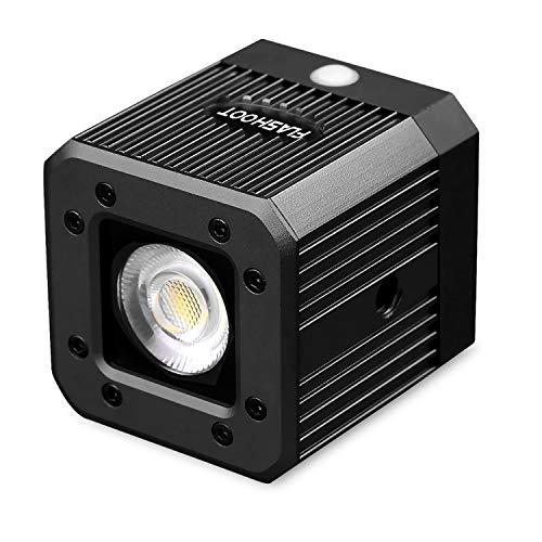 Dazzne Dimmbare Cob-Video-Licht, wasserdicht, 20 m, für DSLR, Digitalkameras, Camcorder und Action-Kameras, schwarz