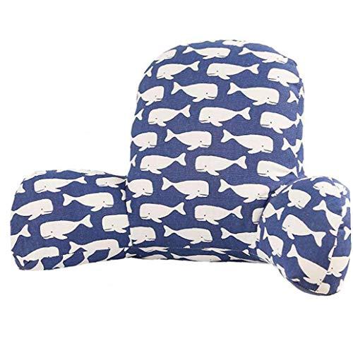 Cuscino Posteriore Ammortizzatore con Braccio di Supporto di Cotone Lino Tessuto della Peluche Riposo a Letto Vita Chair Car Seat Sofa Lombare Cuscino