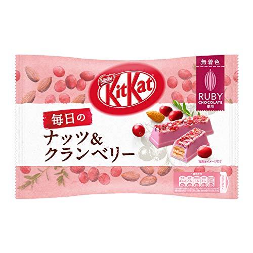 Netsle Kit Kat Chocolate Bar Daily Nuts & Cranberry Ruby chocolate 6 Pack Japan import