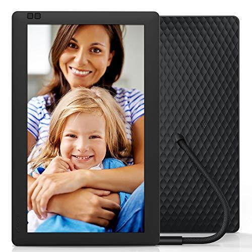 NIXPLAY Seed Marco Digital Wi-Fi de 13 Pulgadas. Envios instantaneos de Fotos y Videos. Integración a Redes Sociales. Auto on/Off. Rotación automática