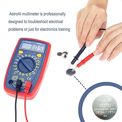 AstroAI Digital Multimeter with Ohm Volt Amp and Diode Voltage Tester Meter (Dual Fused for Anti-Burn)