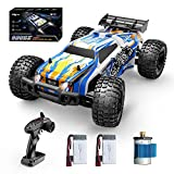 Holyton Remote Control Car 1:10 Scale RC Cars 48+ KM/H High Speed 40+ min Play , 4WD All Terrains Off Road Monster Truck for Adults and Kids Hobby RC Truck Vehicle, 2 Battery Crawler Toy Gift for Boys