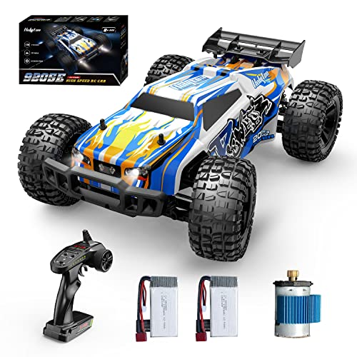 Holyton Remote Control Car 1:10 Scale RC Cars 48+ KM/H High Speed 40+ min Play , 4WD Driving 2.4GHz Off Road Monster Truck for Adults and Kids RC Toy Hobby Vehicle, 2 Battery Crawler Toy Gift for Boys