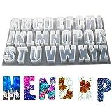 JUSTDOLIFE Molde de silicona DIY 26 letras mayúsculas molde colgante molde de fundición de joyas