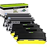GREENCYCLE Toner Cartridge & Drum Unit Replacement Compatible for Brother TN650 DR620 High Yield TN-650 DR-620 HL-5340D MFC-8370 (3 Black Toner & 2 Drum)