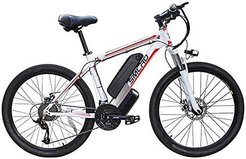 Ebikes, 26 '' Bici de montaña eléctrica 48V 10AH 350W Batería de litio extraíble Batería de bicicleta Ebike para hombres de viaje de ciclismo al aire libre para hombre hacer ejercicio y desplazamiento