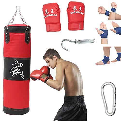 Boxsack Gefüllt Set Erwachsene Trainingsgeräte Boxing Trainer Schwere Freistehender Boxpartner Punch Sandbag Trainingshandschuhe Handschuhe Kampfsport Muay Thai