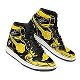 Akatsuki Sneakers Yellow Custom Naruto Anime Shoes -Zapatillas de Baloncesto para Hombre, Antideslizantes, Transpirables, con Cordones, Zapatillas Deportivas al Aire Libre a Juego